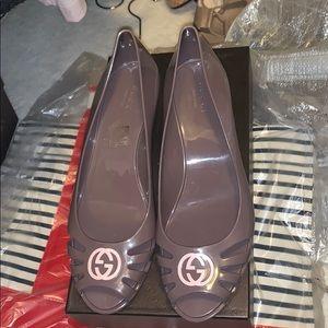 Gucci jelly platform shoes